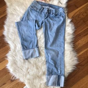 OLD NAVY  | Capri light wash jeans size 0